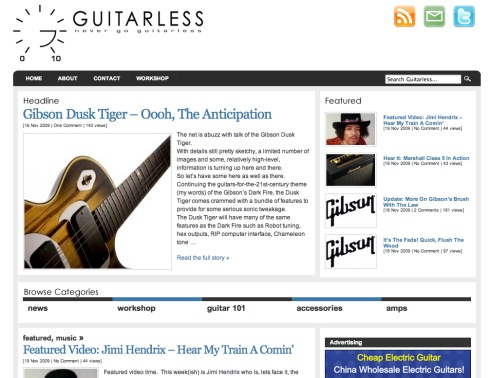 guitarless
